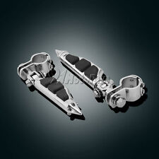 """1-1/4"""" Highway aiguille Mâle Support appui-pieds repose-pieds Clamps pour Harley Davidson"""