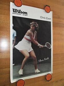 CHRIS EVERT SI SPORTS ILLUSTRATED POSTER TENNIS 1970's
