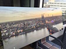 Panorama Wandbild WOLFSBURG Skyline LIGHT div.Größen Kunstdruck Leinwand
