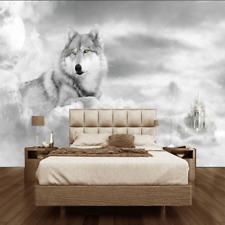 3D Wallpaper Mural sitting room Bedroom Embossed wolves Background wall W8188