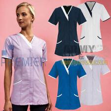 PREMIER Ladies Healthcare Tunic Workwear Daisy Womens Nursing Uniform Zip Top
