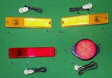 70-83 JEEP CJ5 CJ6 SIDE MARKER LAMP KIT WITH LIGHT SOCKETS & BULBS 994035