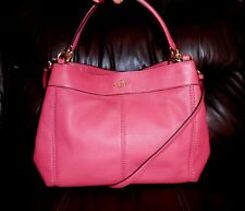 AUTHENTIC COACH PEBBLED LEATHER PINK ROUGE LEXY CROSS BODY/SHOULDER BAG, NWT!
