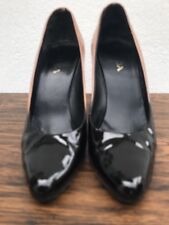 PRADA WOMEN'S SHOES PATENT LEATHER UPPER PUMPS CLASSIC US SIZE 9.5M