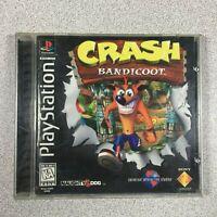 Crash Bandicoot Sony PlayStation 1 PS1 Video Game Black Label Orange Disc Manual