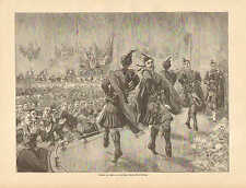 Dance To Honor The German Navy In Edinbourgh, Scotland,1894 German Antique Print