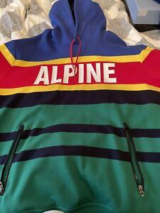 RARE Polo Ralph Lauren PWING STADIUM Men Alpine HI TECH 92 Hoodie XXL Sport 93