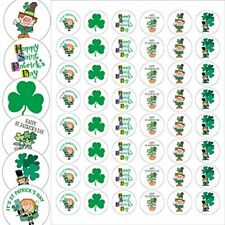 "Assorted St Patricks Day Envelope Seals - 1.2"" Circle  - 144 Stickers -  25176"