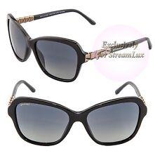 BVLGARI SERPENTI Square Women Sunglasses BV 8142-B 501/T3 Black Gold Polarized
