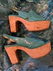 Nine West Wedge Sandals Heels Size 7 New Beautiful
