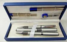 More details for 8 pieces parker pen pencil sets silver chrome stationery writing set