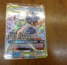 Pokemon Ultra Rare Holo Foil Blastoise & Piplup GX Tag Team Card 38/236
