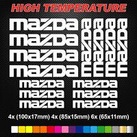 Compatible MAZDA HI-TEMP PREMIUM BRAKE CALIPER DECALS STICKERS CAST VINYL