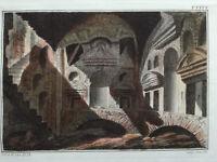 Spalart Ancient Rome Architecture (J) Rare Large Handcolored Print Folio 1800#