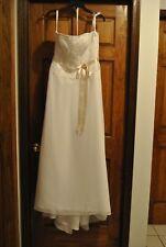 HOUSE OF WU WEDDING DRESS - SIZE 12 - EUC