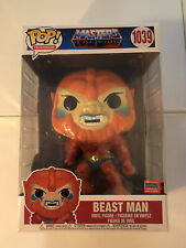 """New~Funko Pop! Masters of the Universe - Beast Man 10"""" Nycc 2020 Exclusive #1039"""