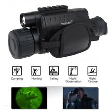 5x40 Zoom Monocular Infrared IR Night Vision Cam Video DVR 8G Fr Hunting, Marine