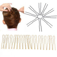 20x cheveux ondulés en U-shaped Bobby pin barrette salon Grip clip épingles.FR