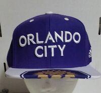 adidas Orlando City SC MLS Evolution Gold One Size Snapback Hat Cap