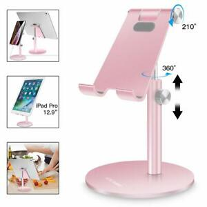 AICase Support Tablet Mobile Universal Multi-Angle Adjustable Of Metal Gold Pink