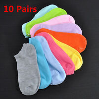 New 10Pairs Candy Color Low Cut Ladies Boat Short Cotton Women Ankle Socks Gift