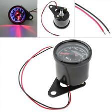 0-180 km/h 12V Small Stainless Steel Retro Car Odometer LED Light for Motorcycle