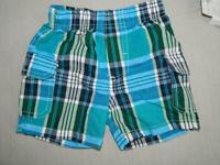 Kids Headquarters Baby Boys Blue Plaid Shorts NWT Size 6-9 Months A1