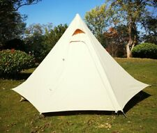 Camping Teepee Tent Cotton Pyramid Safari Camping Tipi Bell Glamping Tent
