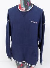 Vintage Reebok Mens Heavy Cotton Navy Blue Sweatshirt Size 2XL XXL