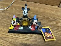 Disney Mickey Mouse Love Laughter 75 Years 75th Anniversary Desk Clock Fantasia