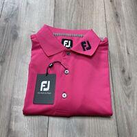 Footjoy FJ Tour Collar Titleist Patch Polo Shirt Men's Size Medium NWT
