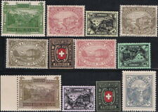 12 pieces of 1880s Switzerland Hotel Local Post MNH Gummed Reproduction Stamp sv
