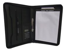 Black  PU faux leather  A4 Conference Folder with strong Clipboard factory 2nds