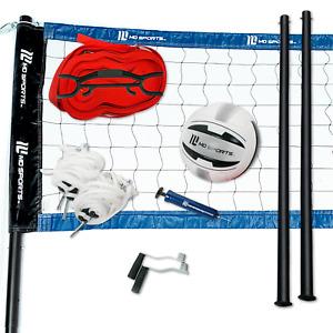 Volleyball Set Net Ball Poles Official Size Outdoor Beach Park Team Sports