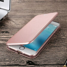 Ultra Slim Magnetic Leather Wallet Flip Case Cover For iPhone Samsung Huawei