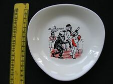 1960/1970s KITSCH PIN DISH BONBON PLATE TRANSFER DESIGN SAUCY HUMOUR TRANSFER