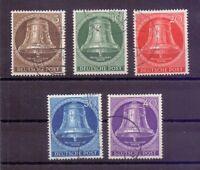 Berlin 1953 - Glocke Mitte - MiNr.101/105 rund gestempelt - Michel 55,00 € (385)