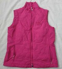 ASHWORTH Sm pink lightweight quilted athletic golf vest Shell Houston Open MINT