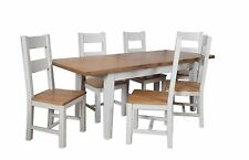 Dorset Oak Extending Dining Table Solid 8 Chairs Pine in Painted French Grey