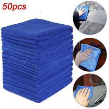 50* Blue Microfiber Water Absorbent Clean Cloth Towels 30*30cm Tools Supplies
