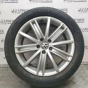 "VW TIGUAN 18"" ALLOY WHEELS WITH TYRES 235/50/R18 5N0601025D CHECK PHOTOS"