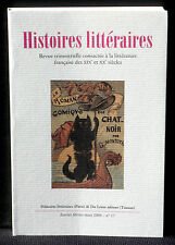 Revue Histoires littéraires n° 17  2004 Du Lérot NM
