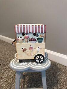 Yankee Candle Ice Cream Cart Tea Light Tart Burner Warmer Used