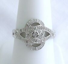 1/10 CTW Diamond Ring 14K White Gold Retail Price $750 Only $249 Or Best Offer!