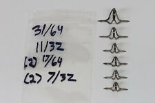 Vintage Carboloy Rod Guides 6 pcs Fishing Pole Building Repair Carbide Lot #5