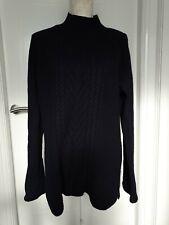 Cambridge Dry Goods de lana de cordero Mezcla Jersey de punto grueso Pescador Azul Cable 16