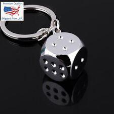 Dice Keychain Keyring Metal Zinc Alloy Car Bag Keychains Key Holder Men Gift