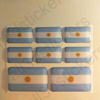 Pegatinas Argentina Pegatina Bandera Argentina Vinilo Adhesivo 3D Relieve Resina
