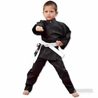 NEW Proforce Lightweight Karate Uniform Gi BLACK with White Belt ADULT or CHILD