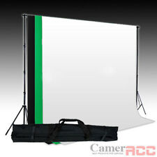 Black White Green Cotton Backdrop Muslin Background Stand Kit for Photo Studio